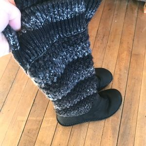 Ugg sweater top,  leather wedge heel boots, size 8